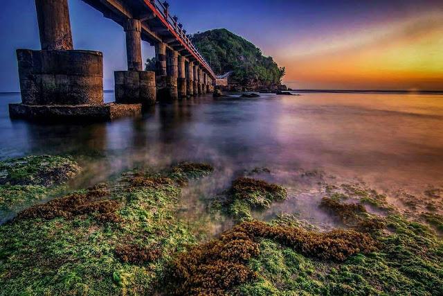 Pantai Jembatan Panjang Malang Jawa Timur