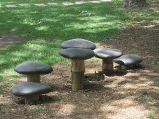 Mushroom Seats In Clover Hill Park Toronto