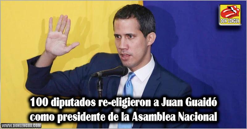 100 diputados re-eligieron a Juan Guaidó como presidente de la Asamblea Nacional