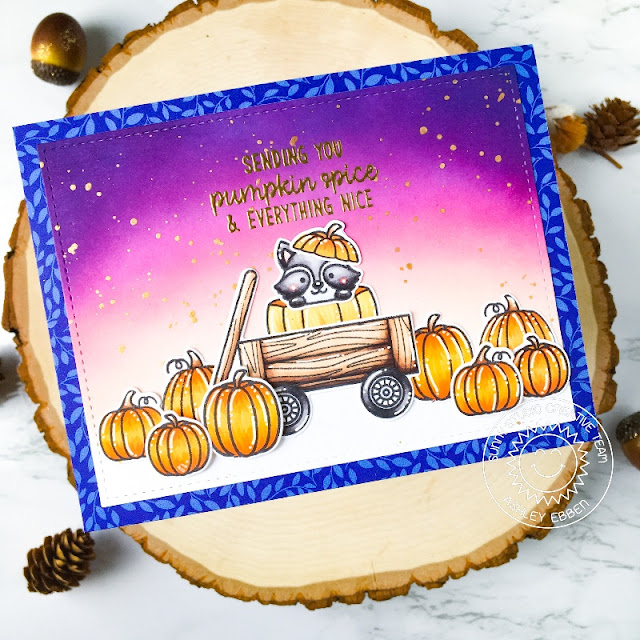 Sunny Studio Stamps: Fall Friends Happy Harvest Stitched Rectangle Dies Fall Themed Card by Ashley Ebben