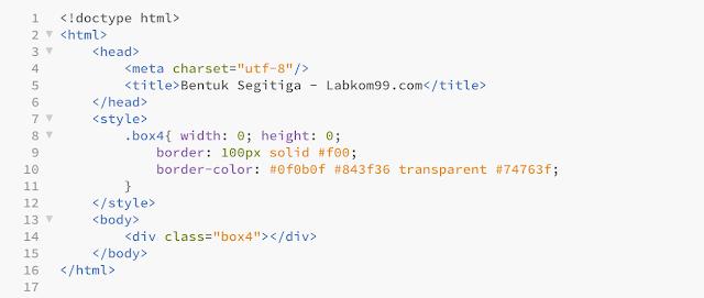 "Belajar HTML + CSS: Membuat Berbagai Bentuk "" Shape "" Dengan HTML dan CSS3"