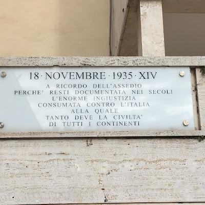Guidonia targa assedio Italia sanzioni