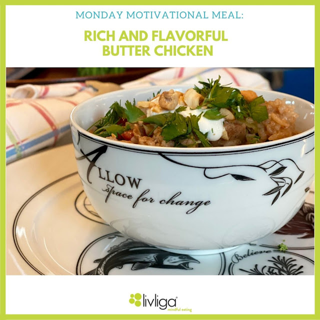 Livliga Healthy Chicken Recipe on Celebrate Portion Control Dinnerware Line