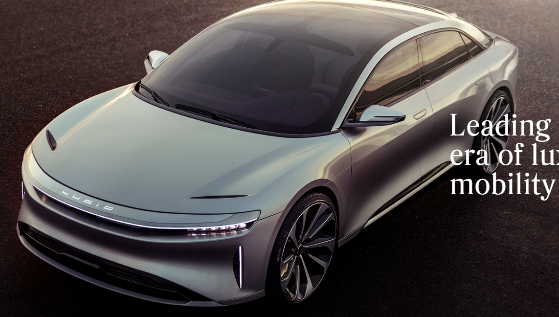 new release electric carLucid motors reveals super luxury 1000 hp electric car which they