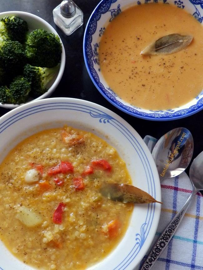 Σούπα βελουτέ με κόκκινη, σμυρνέικη φακή