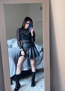 Chrissy Costanza clicking selfie