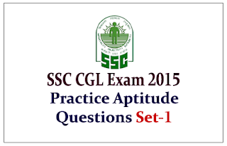 Practice Aptitude Questions for Upcoming SSC-CGL Exam
