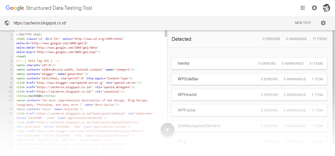 Template Zacheron Beban Error di Google Structured Code Testing Tool