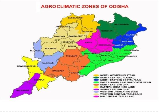 Agroclimatic Zones of Odisha