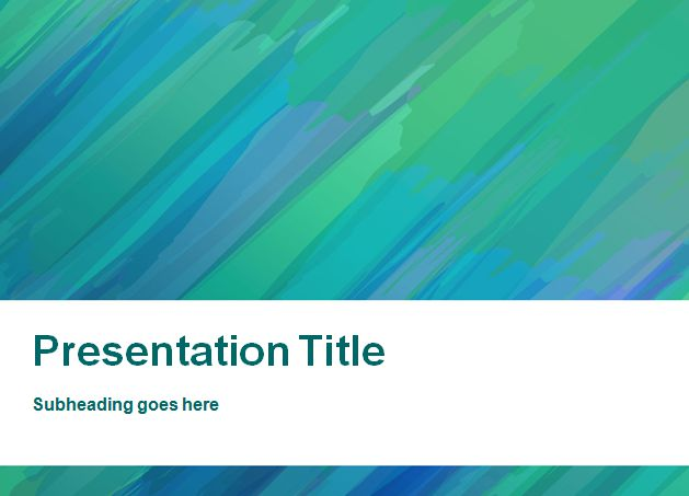 Painted Background PowerPoint Template
