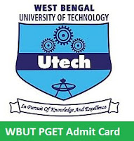 WBUT PGET Admit Card