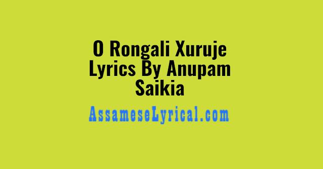 O Rongali Xuruje Lyrics