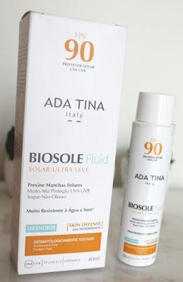 Protetor Solar para Melasma - Biosole Fluid FPS 90 Ada Tina