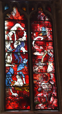 St. Mary's Church of Fairford's infamous paned glass