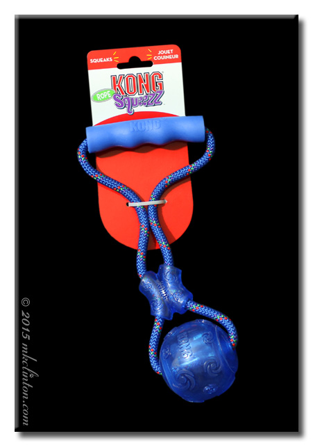 Kong Squeezz rope toy in blue