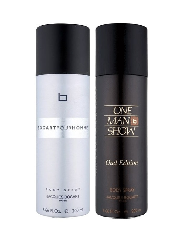 Pack Of 2 - Bogart Pour Homme And Oud Edition Body Spray 200 ml