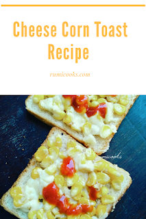 Cheese Corn Toast Recipe