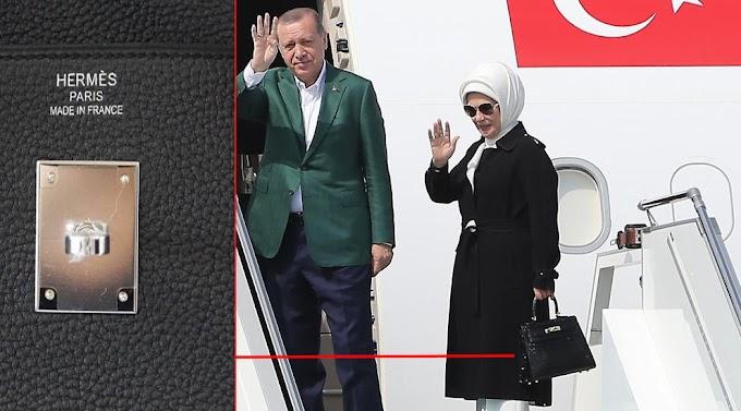 Μποϊκοτάζ με τσάντα HERMES των 50.000 δολ. δε γίνεται κ. Εμινέ, λένε οι Τούρκοι!