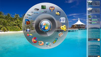 """إضافة شريط دائري إلى سطح المكتب في ويندوز عبر برامج """" Dock"""""""
