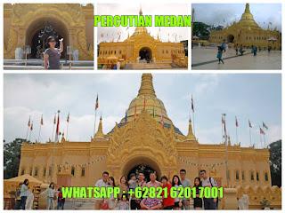 Pagoda Shwedagon Replica, Taman alam lumbini,  berastagi, tempat menarik di berastagi