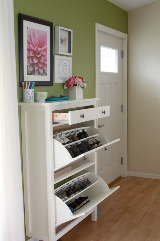 First I Thought Would Show You How The Shoe Cubbies And Drawer Open Still Leaving Plenty Of Room To Navigate Around E