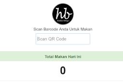 Aplikasi scan barcode makan di kantin dengan PHP, Maria DB dan Bootstrap 3
