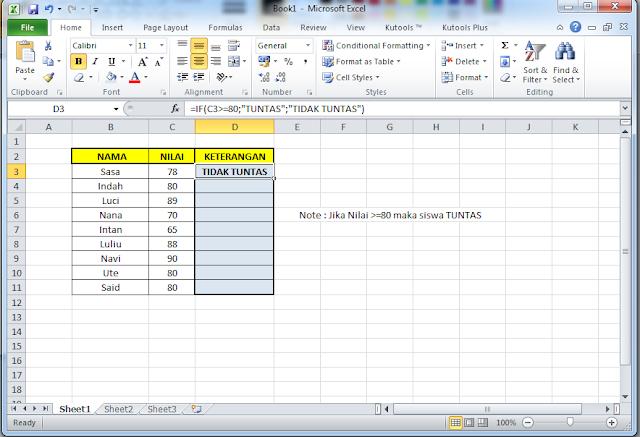 Rumus IF Microsoft Excel