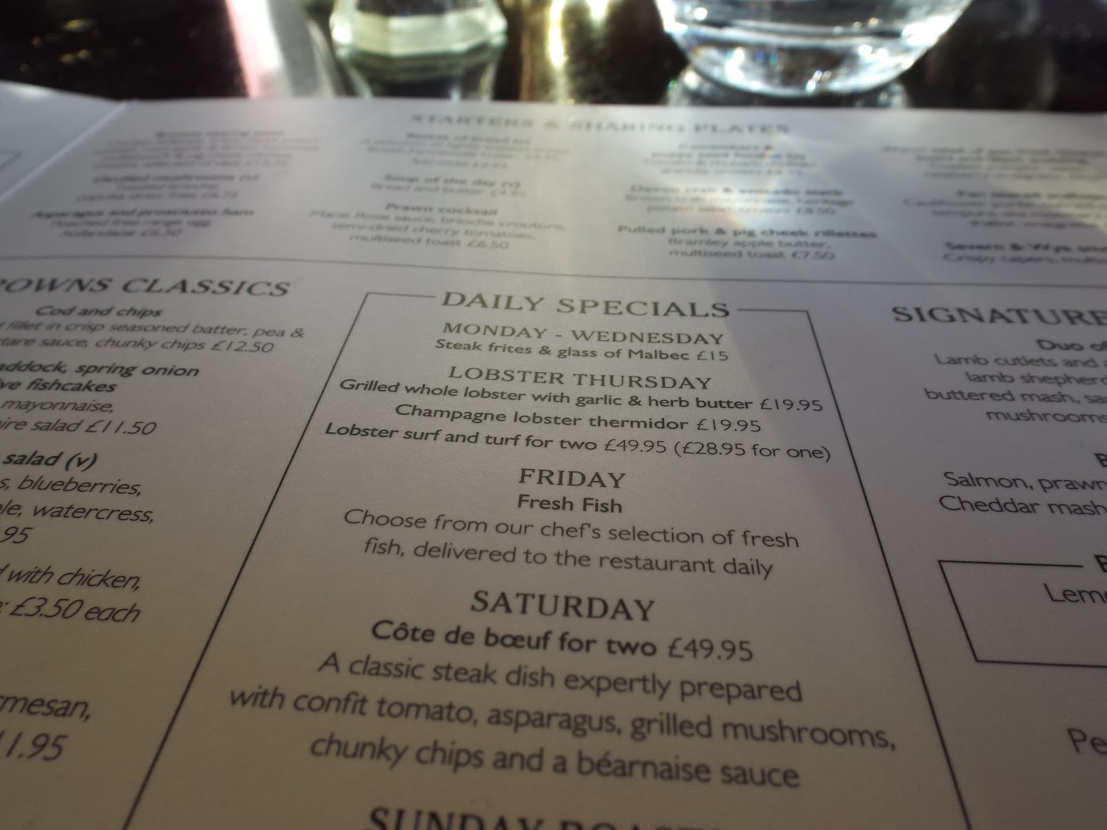 Browns Leeds Restaurant Review