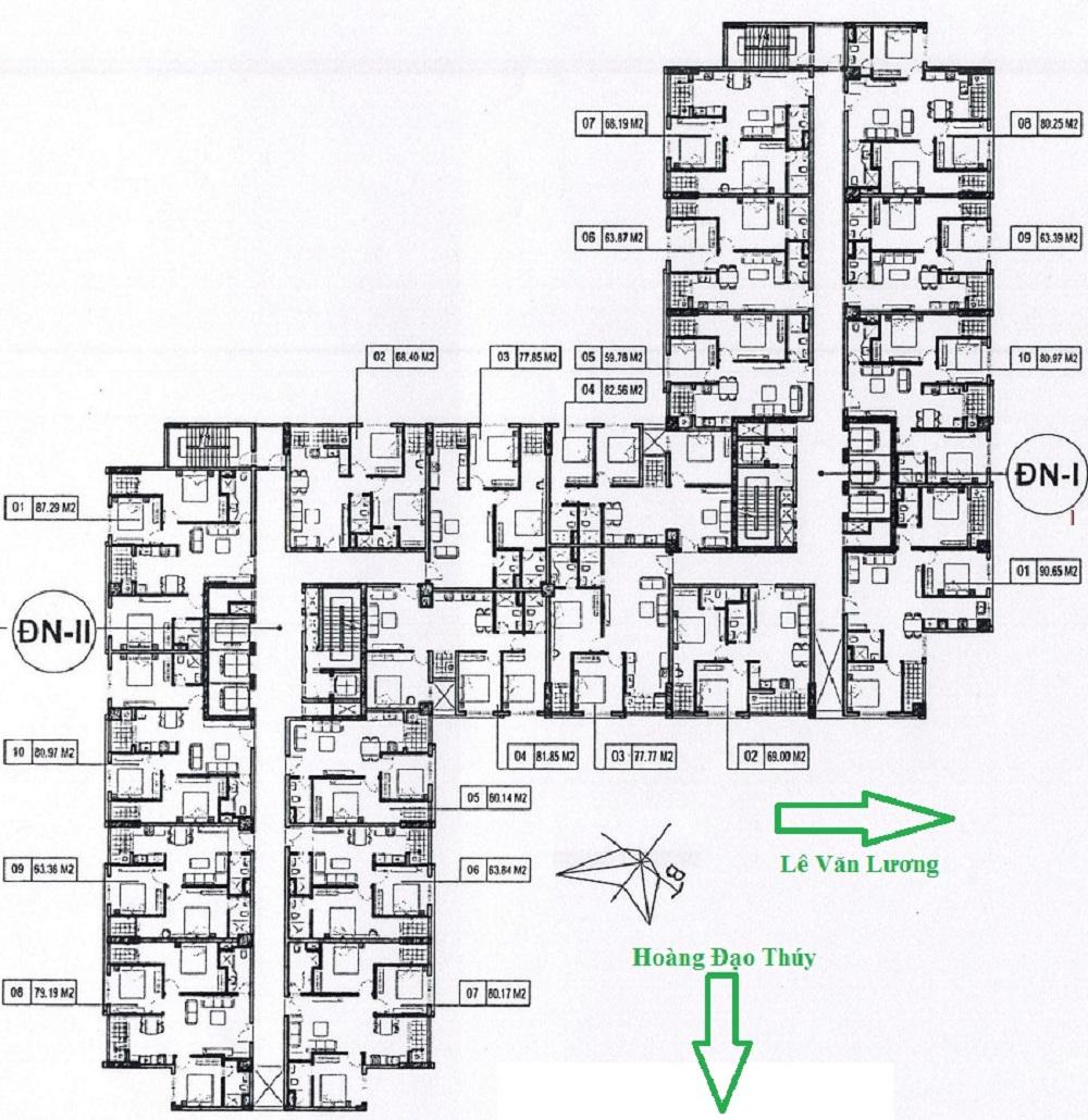 mặt bằng chung cư hà nội center point