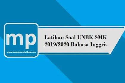50 Latihan Soal UNBK SMK 2019/2020 Bahasa Inggris