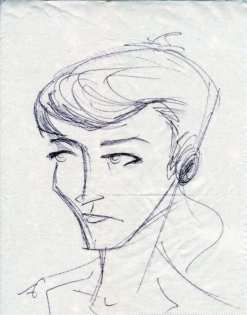 P.Hos' Art: Coffee napkin sketches
