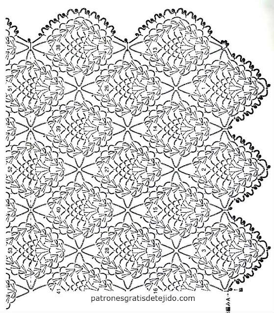 patrones-chaleco-piñas-ganchillo