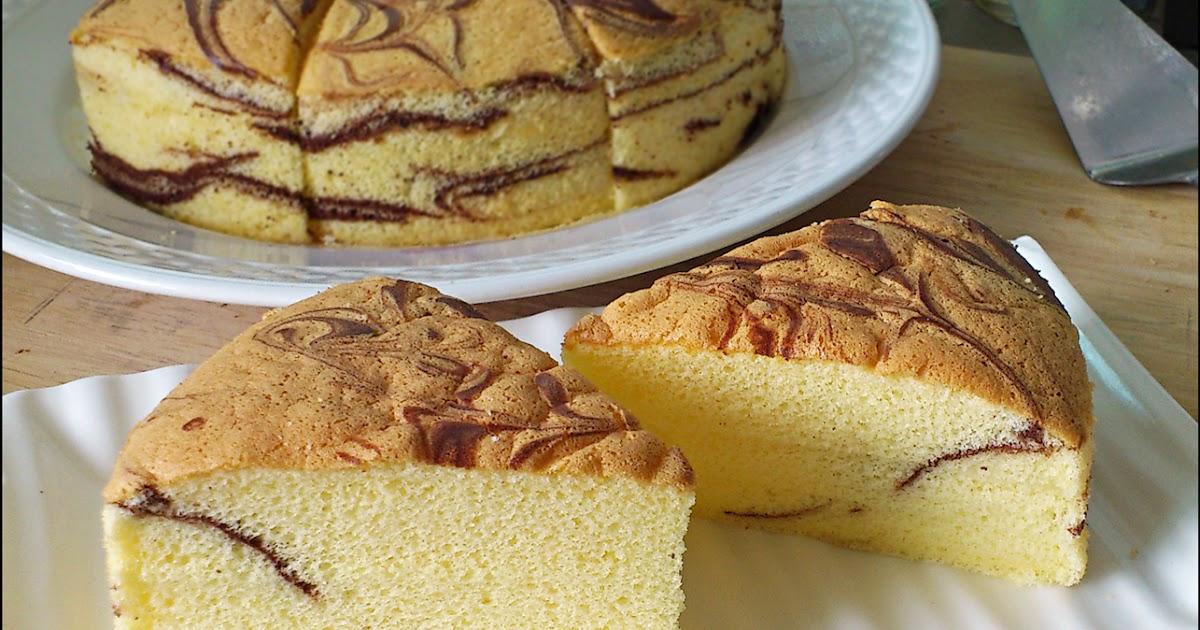 Marble Butter Sponge Cake (Tang Mian Method)