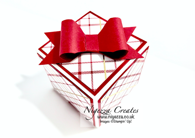 Nigezza Cretes with Stampin' Up! Wrapped In Plaid Gift Box With Box but not EPB
