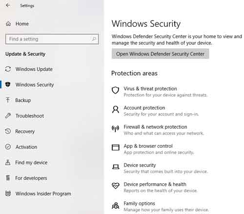 menonaktifkan windows defender win10