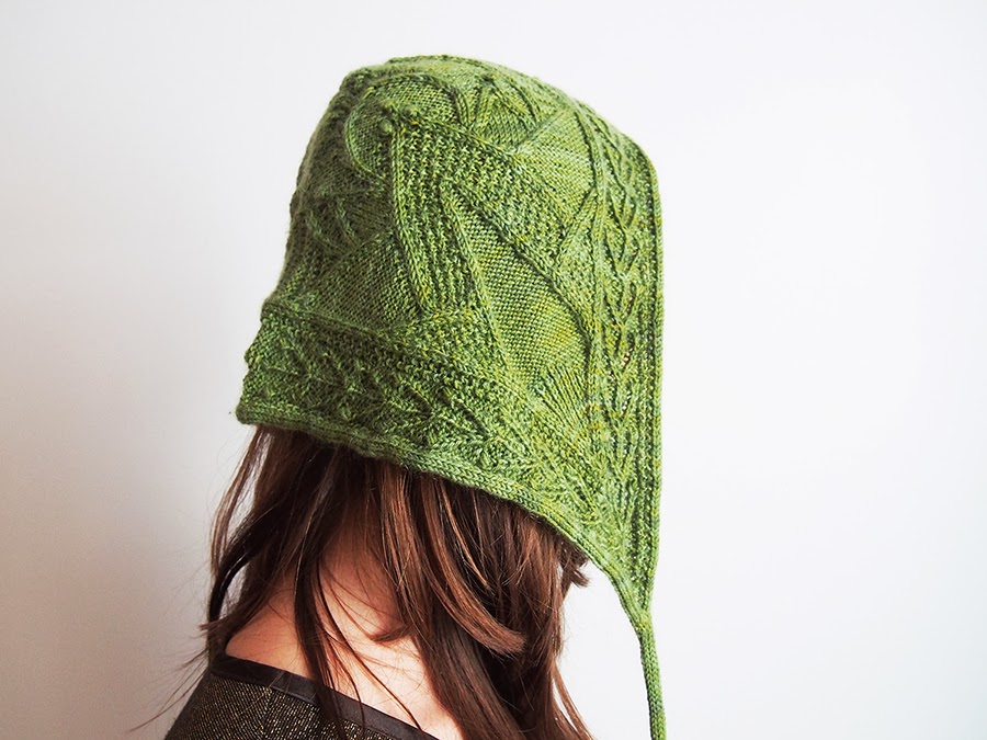 Hood in Rowan Fine Art, knit by Dayana Knits