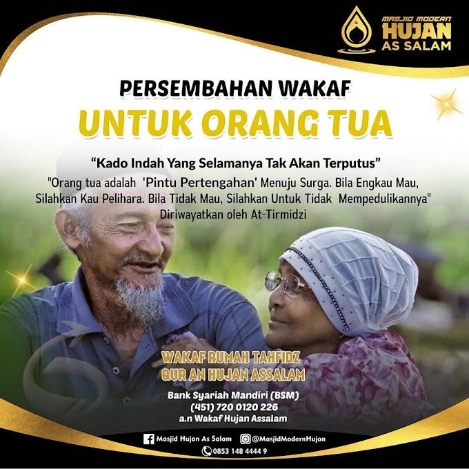 Persembahan Waqaf Untuk Orang Tua
