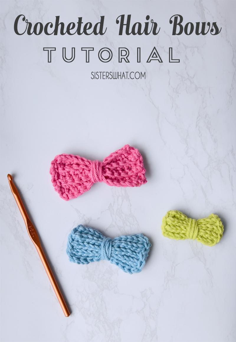 easy DIY crocheted bows tutorial