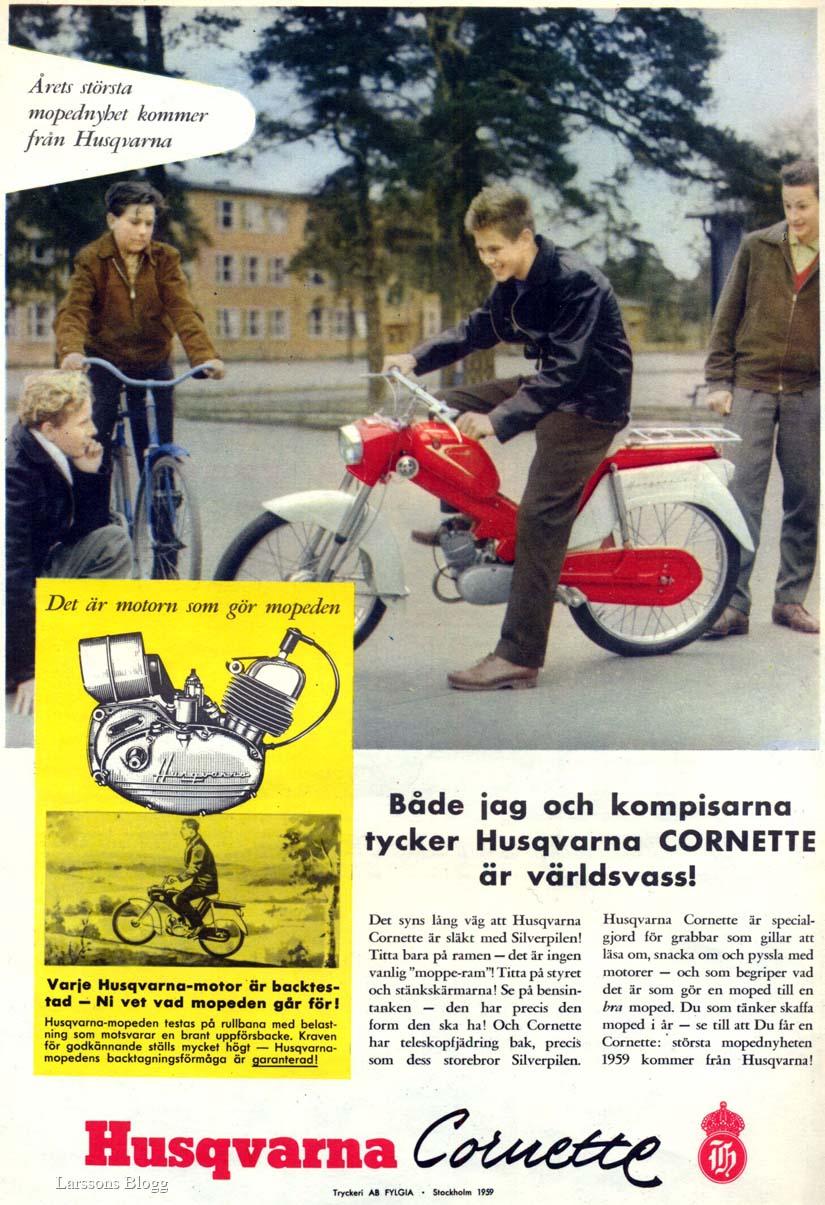 5cf6eba15b1 Larssons Blogg: Mopeder - 1959