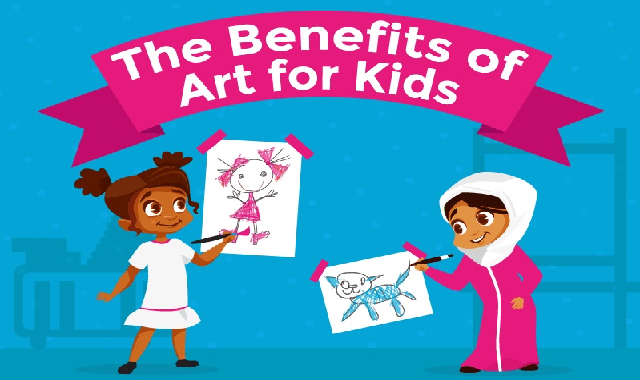 The Benefits Of Art For Kids #infographic