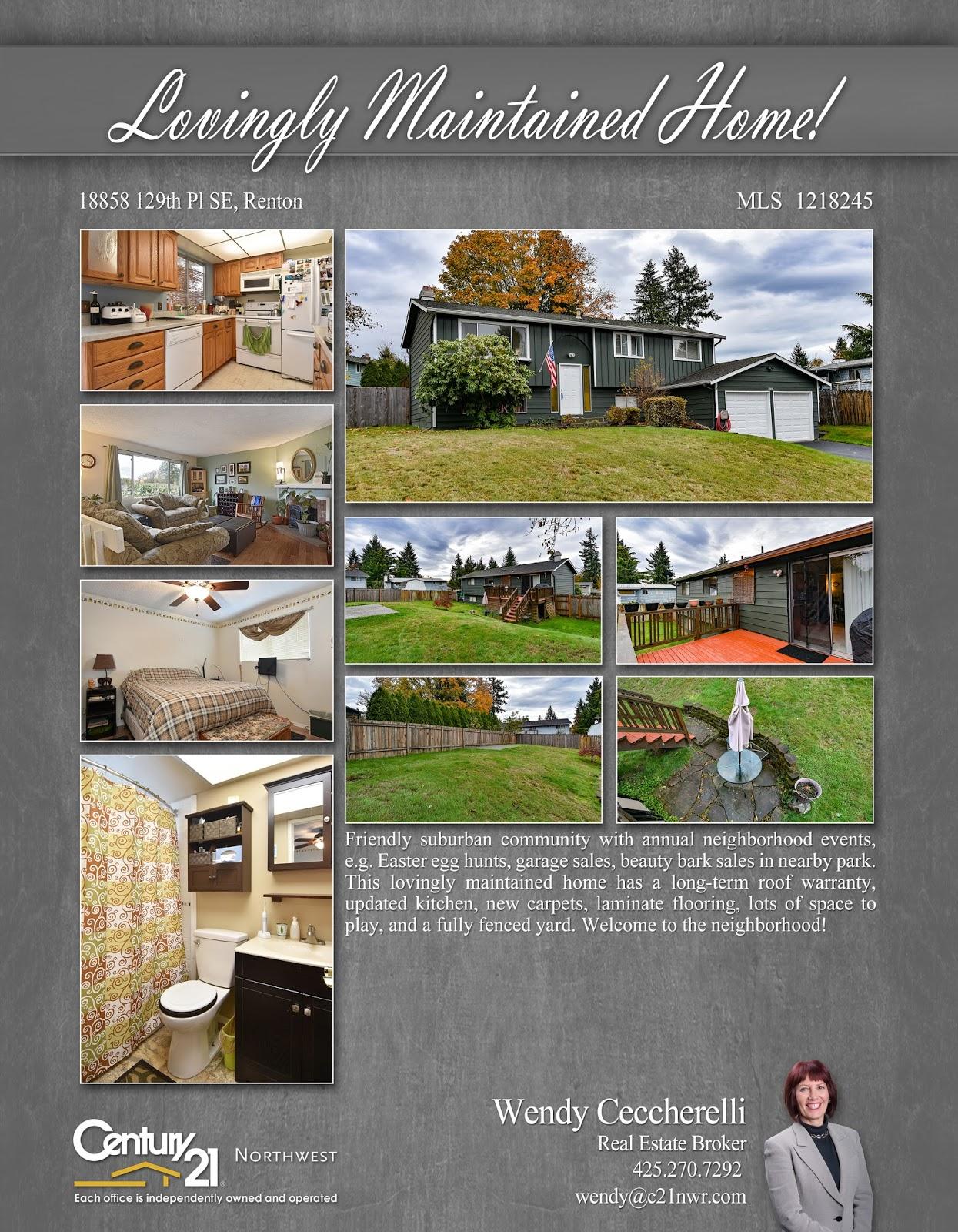 Seattle Real Estate Investor: Renton Open House Sunday