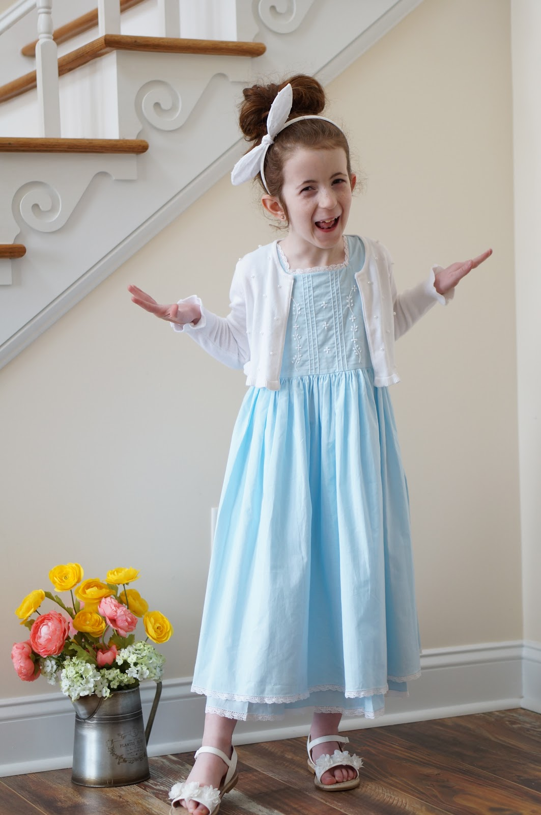 Popular North Carolina style blogger shares the Cape Cod dress from Strasburg Children.  Read more here!