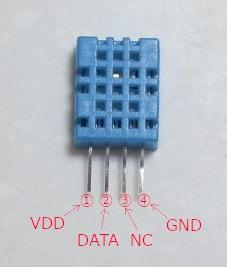DHT11のピン構成