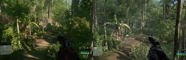 Comparison in Crysis Remastered vs Crysis Original