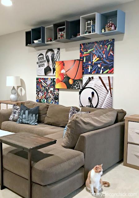 boy game room art decor
