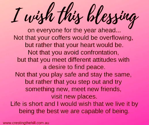 I wish this blessing on everyone for the year ahead #lifequote