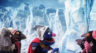Super Grover 2.0 Ice Block Party, penguins, large ice block, Sesame Street Episode 4319 Best House of the Year season 43