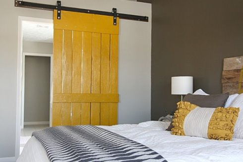 Diy Sliding Barn Door Made From Recycled Fencing Content In A Cottage