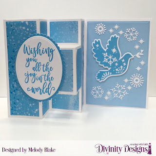 Stamp Set: Christmas Wishes Custom Dies: Half-Shutter Card with Layers, Ovals, Christmas Dove, Scalloped Ovals Paper Collection: Christmas 2019