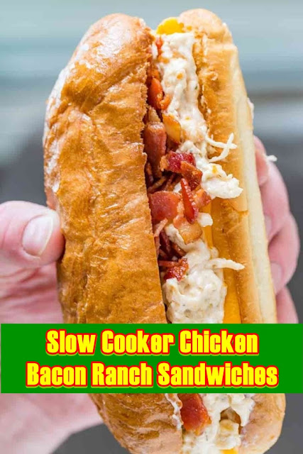 #Slow #Cooker #Chicken #Bacon #Ranch #Sandwiches